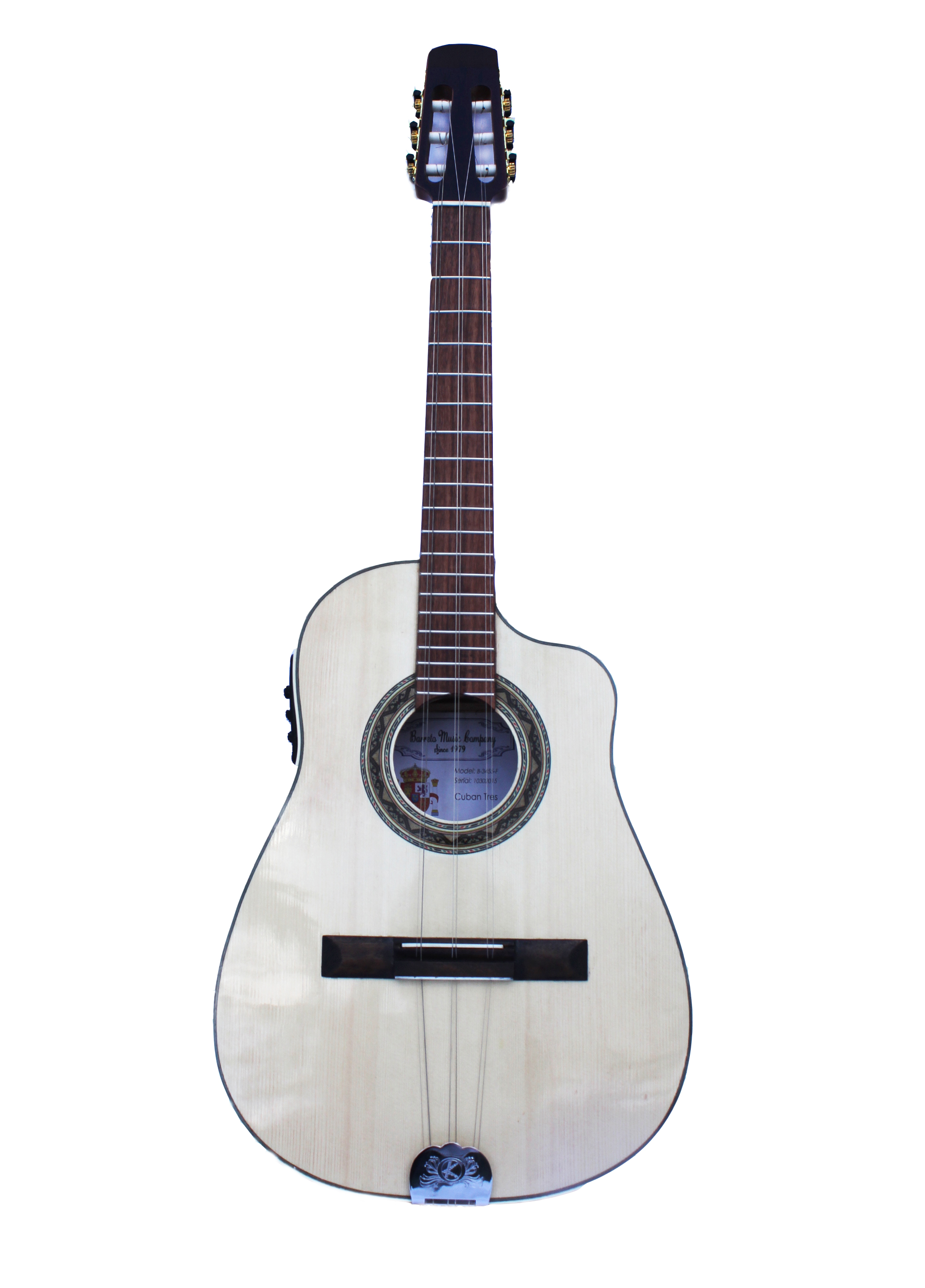 Acoustic Electric Cuban Tres with Hard Case